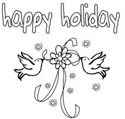 happy holidays coloring pages happy coloring pages