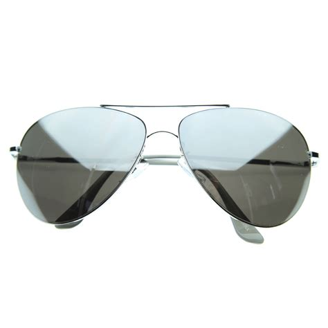 Mirrored Sunglasses cop mirrored aviator sunglasses glasses 1535 silver