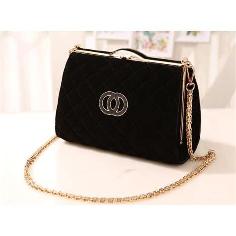 Tas Wanita Chanel Rania jual h422 tas pesta selempang kw branded merek chanel hitam beludru impor aneka segala tas