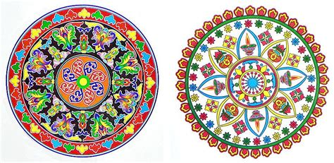 printable sticker paper india set of two multicolor ritual sticker rangoli print on paper