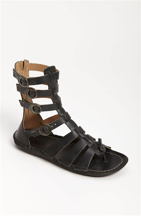 kickers sandals sale kickers pepita sandal in black lyst