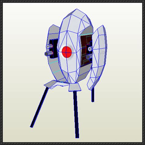 papercraftsquare new paper craft portal turret
