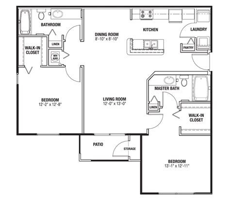 bathroom walk in closet floor plan one 51 place apartment homes in alachua florida