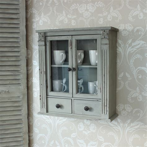 small shabby chic wall cabinet grey wooden wall cabinet shabby vintage style home chic