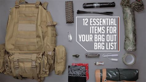 53 essential bug out bag supplies how to build a suburban go bag you can rely upon books 12 essential items for your bug out bag list