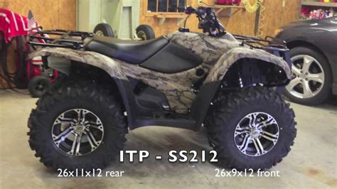 12 vs 14 rims honda foreman forums rubicon rincon rancher and image gallery itp 212