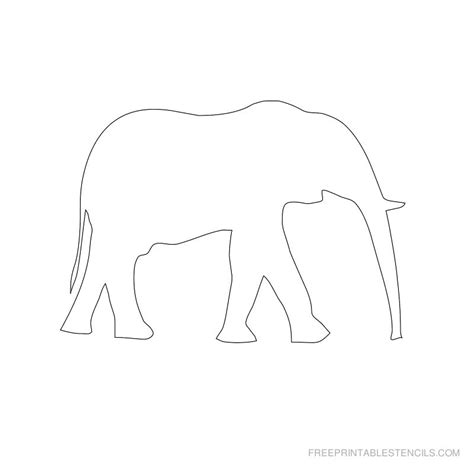 printable stencils com elephant stencil printable designs free printable stencils