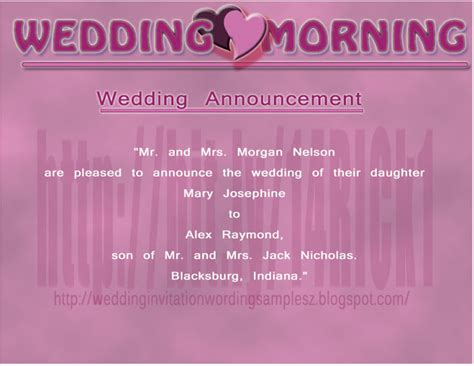 Wedding Announcement Newspaper Etiquette by Newspaper Wedding Announcement Wording Important Points