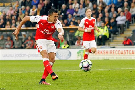 arsenal xhaka goal hull city 1 4 arsenal alexis sanchez theo walcott and