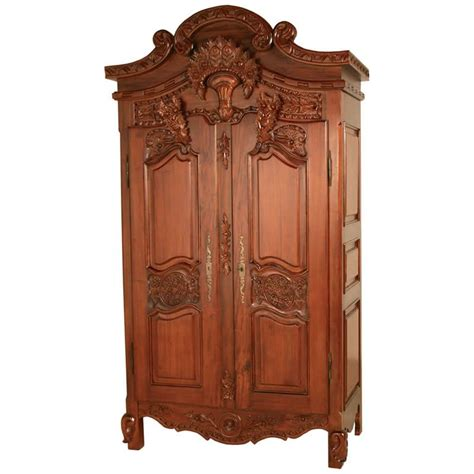 french armoire wardrobe rococo french armoire wardrobe in mahogany