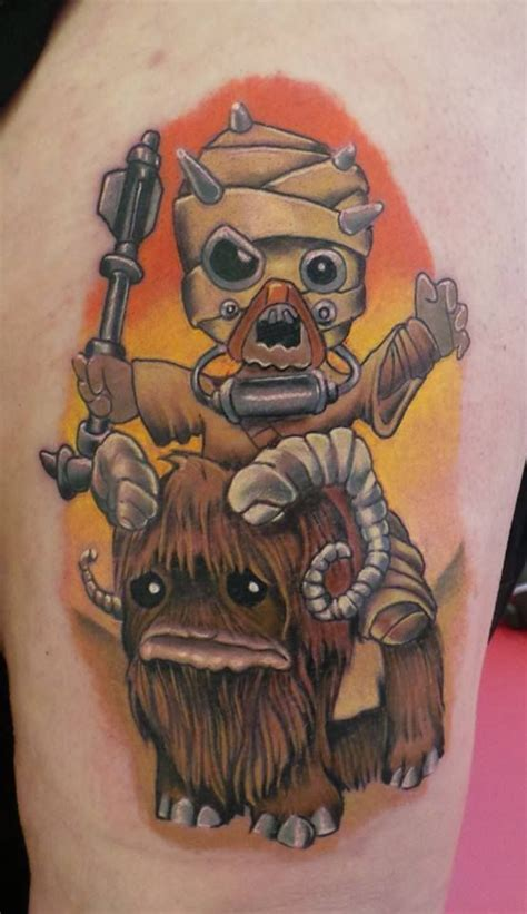 revolution tattoos new school tusken bantha ink by damian cain at