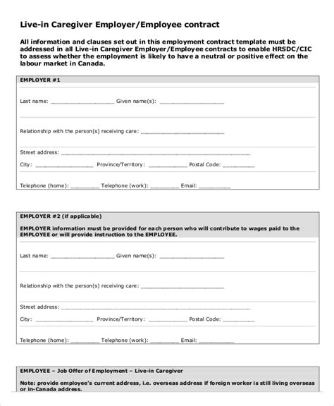 free temporary employment contract template employment contract template 10 free sle exle