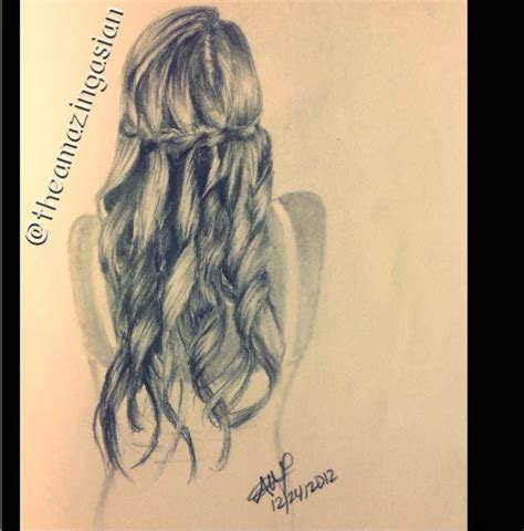 hairstyles drawings pinterest waterfall braid drawing by themazingasian on backspaces
