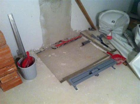 bodengleiche dusche einbauen estrich badeinrichtung hausbau ein baublog