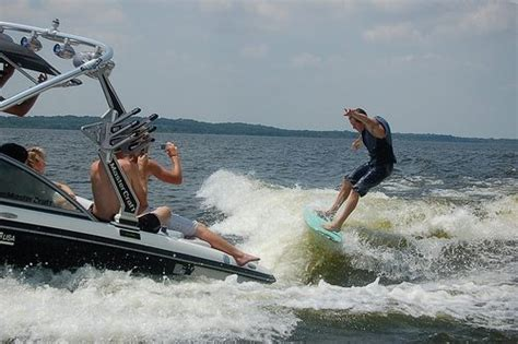 wake boat surfing wake surfing carefree boat club