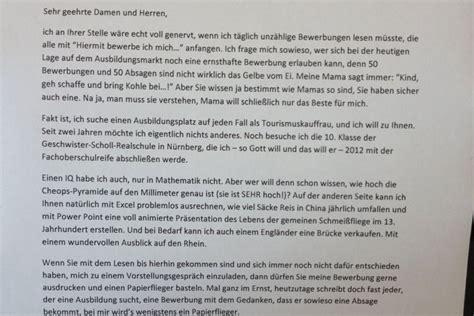 Anschreiben Bewerbung Ernst Deutschlands Verr 252 Ckteste Bewerbung Antenne