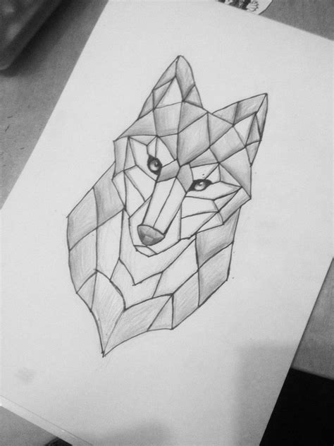 simple geometric tattoos here is a simple and geometric wolf i m in