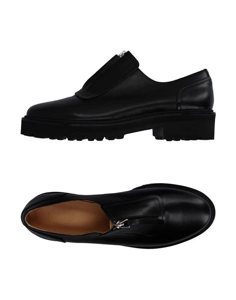 maison martin margiela loafers mm6 by maison martin margiela loafer in black for lyst