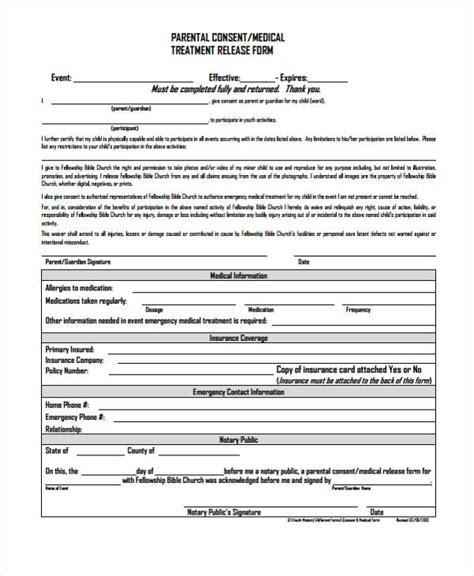 24 Medical Release Form Templates Parental Release Form Template