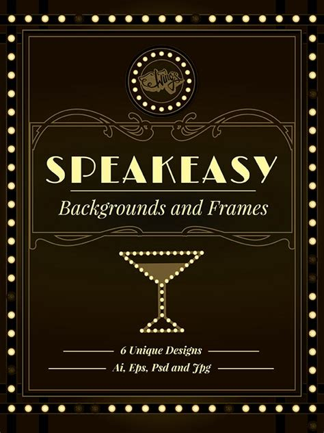 Fully Editable Vintage Speakeasy Backgrounds And Frames Speakeasy Invitation Template Free