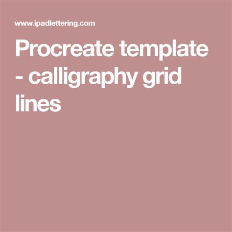 ipad grid template procreate template calligraphy grid lines ipod