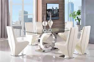 Designer Glass Dining Tables Channel Desgner Glass Dining Table Dining Chair Set New Dining Room Furniture Ebay