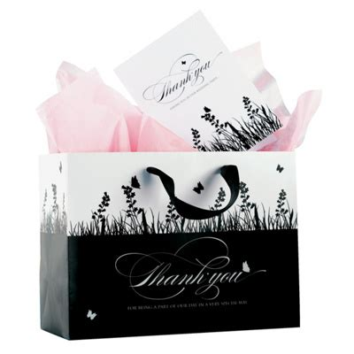 black wedding gift bags custom designed black and white gift bags wedding party