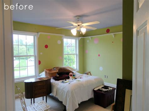 Living Room Into Bedroom before after girl s bedroom turned office design sponge