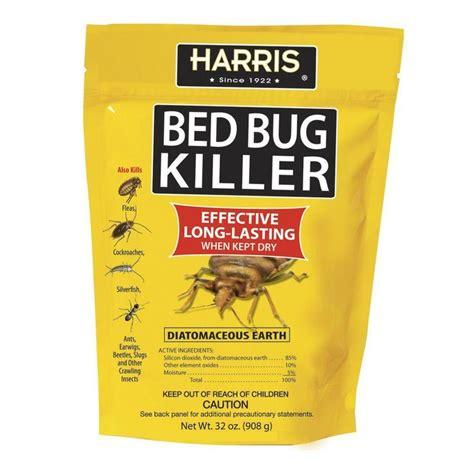 harris 32 oz diatomaceous earth bed bug killer beds