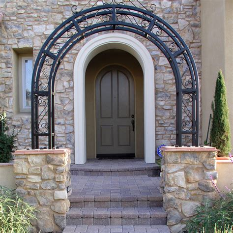 front yard entrance arbor