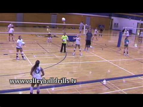 volleyball setting drills youtube beginner volleyball drill shuffle challenge diagonal pass