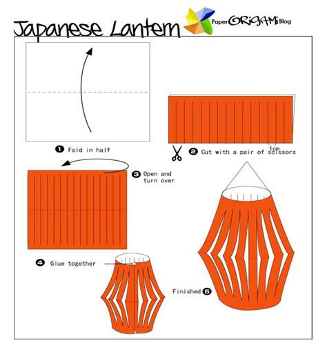 Easy Japanese Origami - free coloring pages easy origami lantern