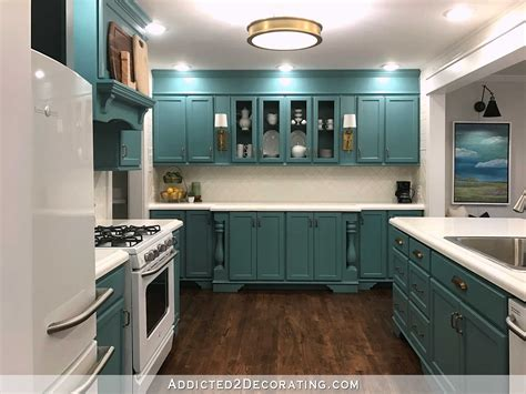 teal cabinets kitchen painting kitchen and bathroom cabinets pros cons of
