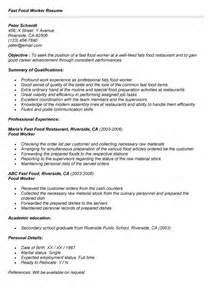 Food Service Resume Sle by Workers Resume Sales Worker Lewesmr