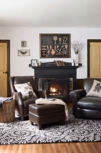Comfy Club Chairs Design Ideas 27 Cozy Living Rooms You Ll Want To Hibernate In All Winter Fireplaces Club Chairs And