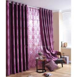 Living Room With Purple Curtains Rich Purple Jacquard Floral Pictures Of Living Room Curtains