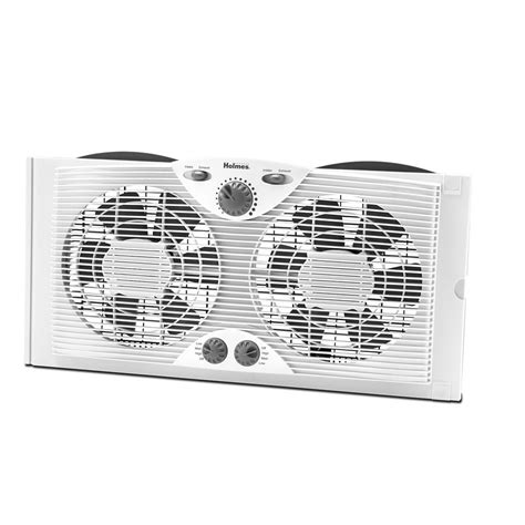 Holmes 9 In Dual Blade Window Fan With Comfort Control