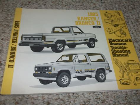 free service manuals online 1989 ford bronco ii interior lighting 1985 ford bronco ii truck electrical wiring diagrams service shop repair manual ebay