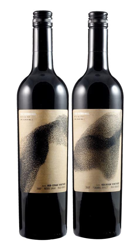 label design of wine field recordings wine the dieline packaging branding