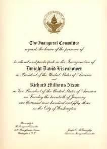 presidential inaugural invitations and memorabilia for sale