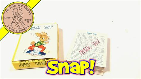 printable animal snap cards animal snap vintage 1970 s mini deck of cards games
