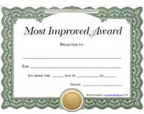 Most Improved Certificate Template by Most Improved Award Certificates Images Frompo 1