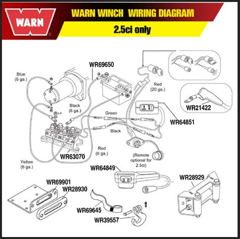 warn atv winch wiring diagram for polaris 41 wiring
