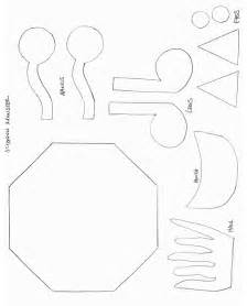 shapes crafts print your octagon monster template all