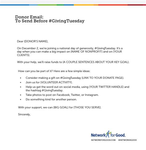 The Nonprofit Marketing Blog Giving Tuesday Template