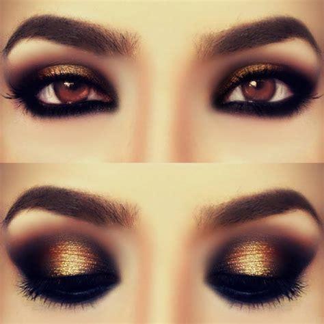 Eyeshadow Gold eye makeup for gold smokey top pakistan
