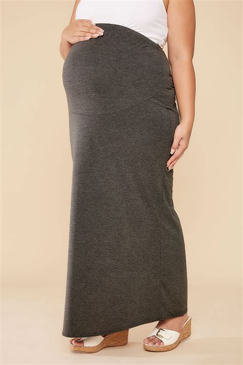 international comfort products customer service bump it up maternity grey tube maxi skirt with comfort