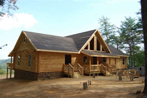 log cabin home construction building pictures battle
