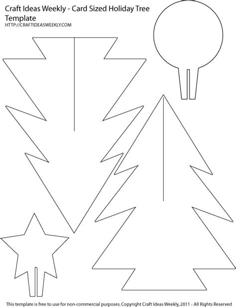 card sized paper christmas tree template craft weekly