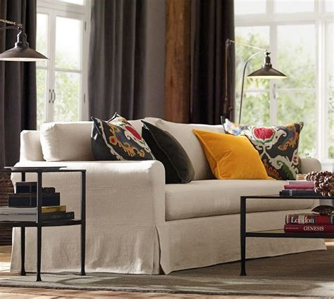 slipcovers that fit pottery barn sofas york roll arm slipcovered sofa pottery barn furniture